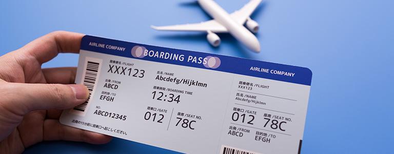 航空券と模型